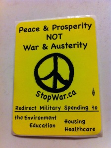 Peace & Prosperity NOT War & Austerity
